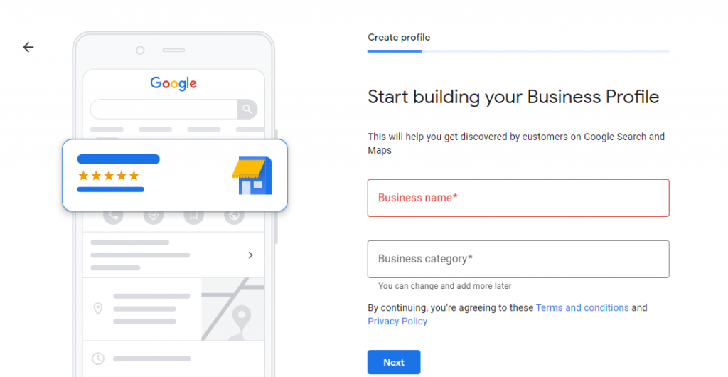 Adding your business info